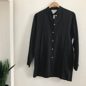 Blooming Dales 100% Linen Button Down Tunic